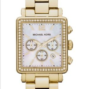 Michael Kors 5570 gold Square faced watch